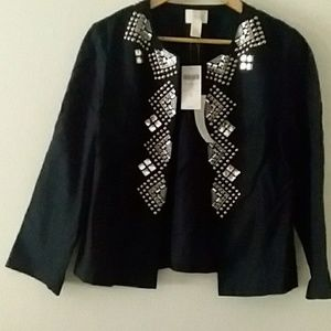 Chico's Black Jacket / Metal Accents